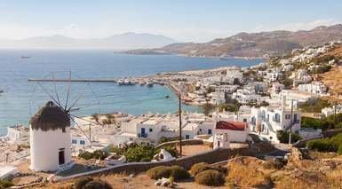 CRUCERO ISLAS GRIEGAS - ESPECIAL SINGLES      -                     Atenas, Miconos, Míkonos                     Patmos, Santorini, Mar Mediterráneo