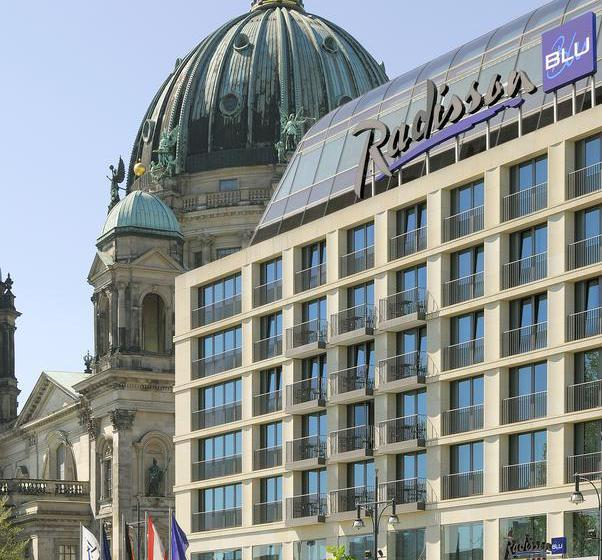 Outside Radisson Blu Hotel Berlin