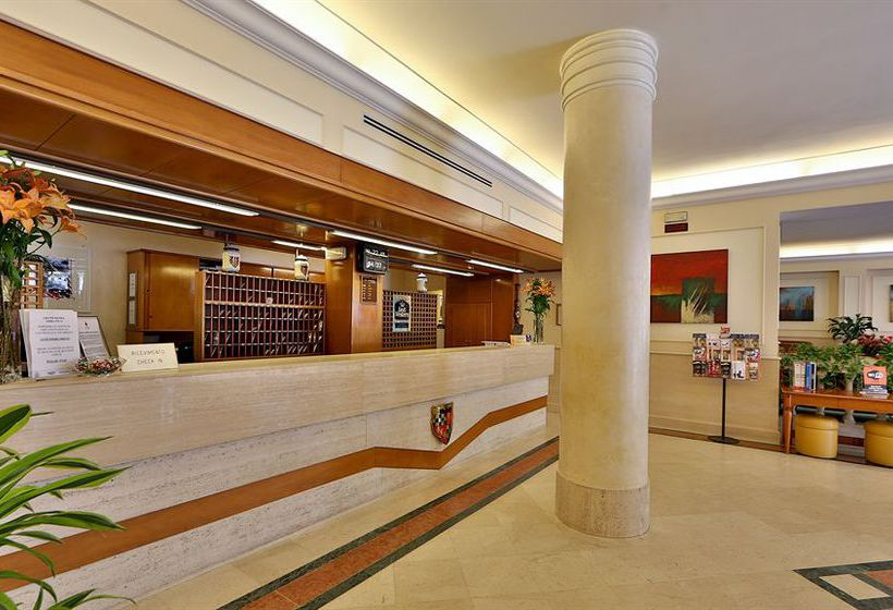 Front desk Best Western Grand Hotel Adriatico Florence