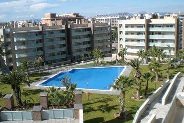 Zonas comunes Apartamentos Ibersol Spa Aqquaria Salou