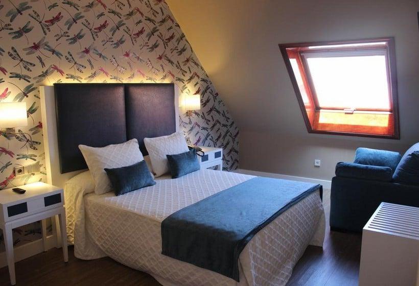 Habitación Hotel Aquaria Caneliñas Portonovo